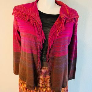 Ruby Rd Sweater with Fringe